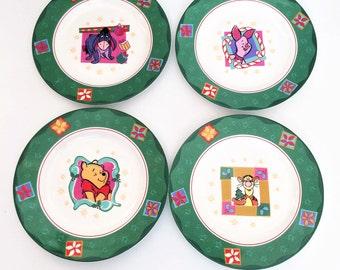 Disney Winnie the Pooh Plates Sakura,Pooh, Piglet, Tigger, Eeyore, set of 4