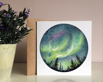 Northern Lights Greetings Card
