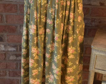 LONG PRAIRIE SKIRT Ralph Lauren Country Prairie Skirt Full Skirt Shabby Chic
