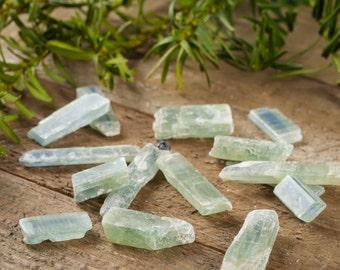 1 GREEN KYANITE - Some With Blue Stripe - For Kyanite Jewelry, Kyanite Earrings, Kyanite Ring, Kyanite Necklace & Blue Kyanite Pendant E0011