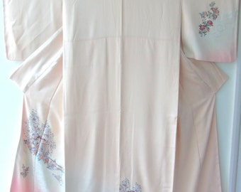 Japanese Silk Kimono - Extremely Delicate Suzhou Embroidery Free p+p in UK