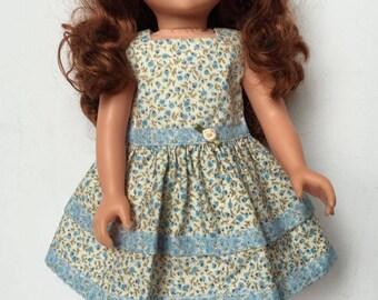 Handmade Pretty 18 inch doll dress * Handmade dolls clothing * Designafriend doll * Journey girl doll * Doll dress  *