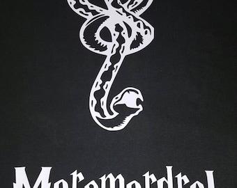Mens (or womens) death eater inspired shirt, morsmordre spell, dark mark, harry potter inspired, dark green or black shirt