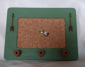 rustic wood framed bulletin board forest green message board memo board with arrow theme
