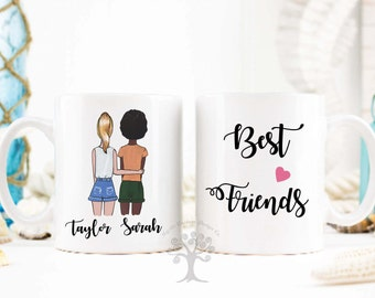 Personalized Best Friend Gift, Best Friend Gift, Friendship Gift, Unique Friendship Gift, BFF Mug, Bestie Mug, BFF gift, Friendship Mug