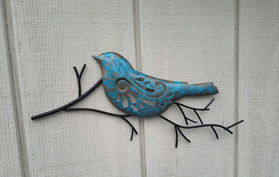 Metal Bird Wall Decor Target : Metal wall art home decor bird black