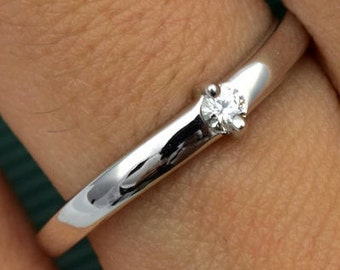 DIAMOND WEDDING band in 14 karat white gold,proposal ring, promise gold ring, anniversary band, gift for her,woman ring,