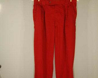 True vintage of 90s pants 48 Chino pants trousers carmine red