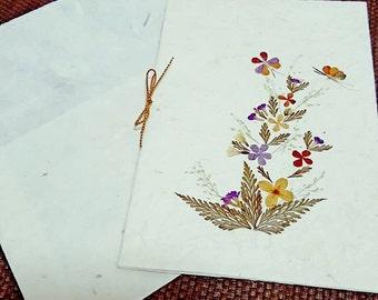 Dry Flowers card