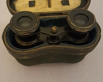 Vintage French Opera/Field glasses with case