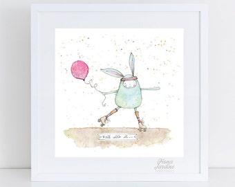 Roll with it / Nursery Art / INSTANT DOWNLOAD / Kids room / Nursery Printable / Printable / Wall Art  / Nursery Decor / Digital Print / 8x10