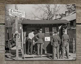Photobooth Print, 1941, Black White Photographs, Old Camera Photographs, Old Photos, Gift for Photographer