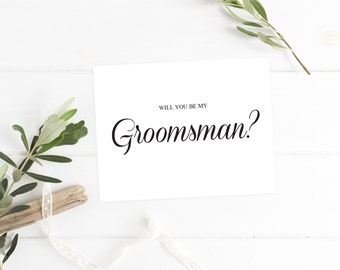 Will you be my Groomsman Card Groomsmen Proposal Card Groomsmen Card Groomsmen Gift Personalized Groomsman Invitation Groomsman Proposal
