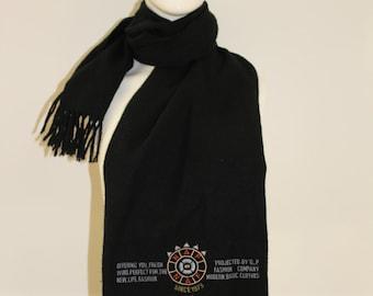 Large Detailed Scarf (Black)