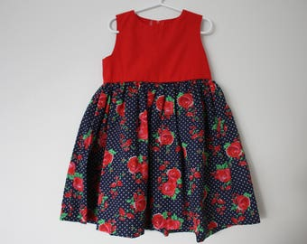 classic style girls dress, size 3. one of a kind