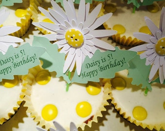 Daisy Cupcake Topper