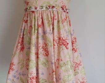 Girl's party dress/ flower girl dress/ cotton girl's dress/ Size 5