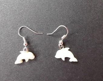 Motherof Pearl Dolphin Earrings