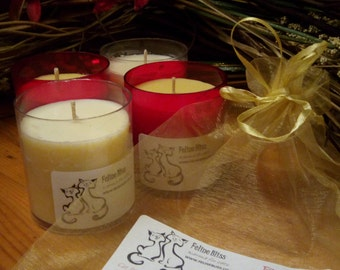 Candles for Cats - 4 x High quality, handmade candles that are pet friendly.