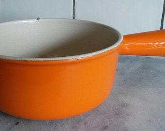 Vintage Le Creuset Volcanic Cast Iron Hollow Handle Milk Pan 16cm