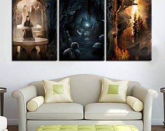 Frames From The Lord of The Rings Trilogy - 3 Piece Canvas Wall Art | Lord of The Rings Wall Art | Painting | Poster | Print | Mural | Decal
