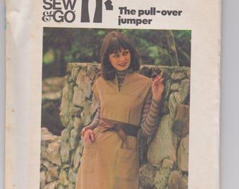 Butterick 4381 / Misses Jumper / Size 14 / 70's Vintage Sewing Pattern