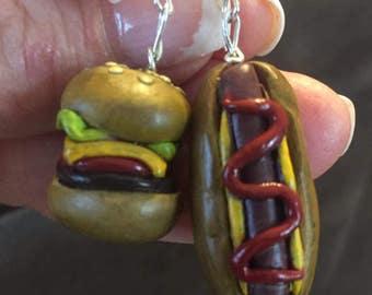 Hamburger/Hot dog Earrings