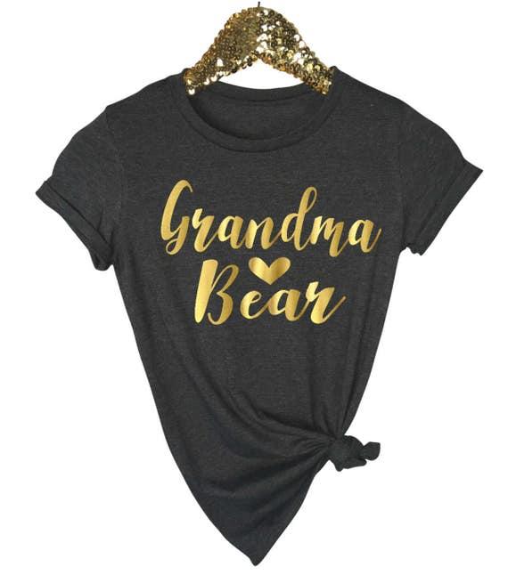 Custom Shortsleeve Grandma Shirt Grandkids Grandpas Mothers Day