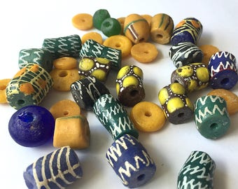 Large Group of Glass Trade Beads from Ghana (Volta Region)
