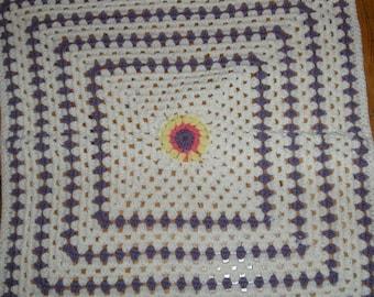 Baby lavender colored blanket