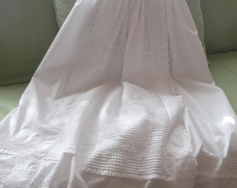 Christening gown, long,  end 19th century, Ayrshire