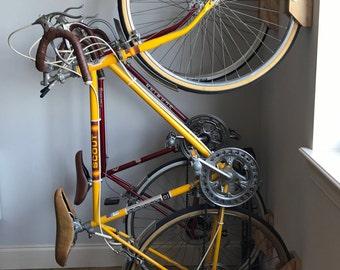 Modern Sleek Wooden Bike Wall Racks/Mounts