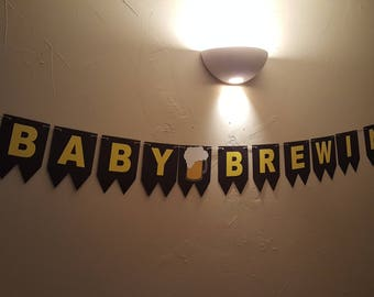 Baby Brewing Banner, Diaper Keg Banner, Baby Shower Banner, Customized Baby Banner, Diaper Banner, Diaper Party