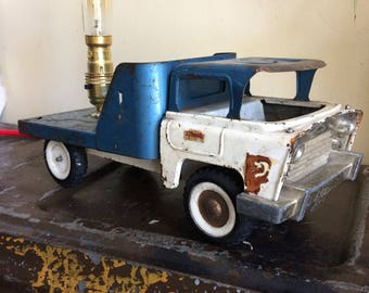 Vintage,Retro,1950's, Triang,pick up, pressed metal, truck, lamp, unusal,unique,gift.