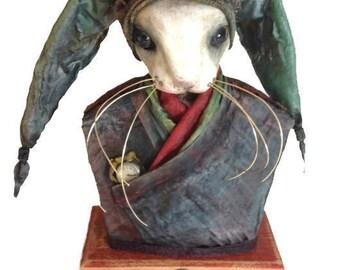 Rabbit Sculpture - Verdi's Timekeeper