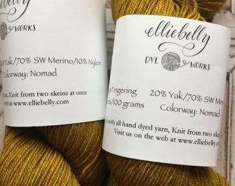 "Elliebelly Himalayan Fingering Weight Yarn -  ""Nomad"""