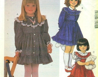 McCall's 2069 RUFFLES & LACE Size 5 Party Dress  ©1985