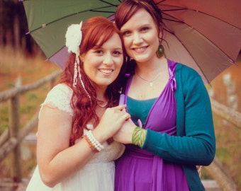 Mismatched Rainbow Dresses Tailored Convertible Dress Infinity custom size & length Bridesmaids (like TwoBirds) royal teal wine fuchsia blue