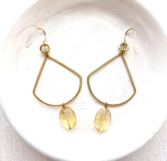 Citrine Fan Earrings