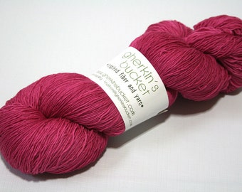 Hand Dyed Artisan Yarn, Tonal Kettle Dyed Heavy Lace, SW Merino Wool Sock Yarn, You Can Feel It All Over #11817, Long Stride Sock (750yds)