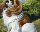 Original Cavalier King Charles Spaniel dog painting