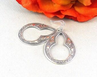 Celtic Earrings, Earrings, Large Celtic Jewelry, Celtic, Silver Earrings, Large Filigree Earrings