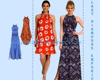 McCalls M7405 Womens Plus Size Pullover Mini Maxi Dress, 4 Styles size L XL XXL Bust 38-48 Learn to Sew for Fun Pattern 7405 Uncut FF