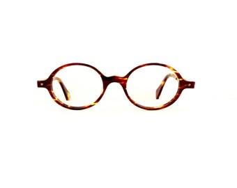 90s Face a Face Oval Eyeglasses Frames Unisex Vintage 1990's Tortoiseshell Model Bonie Made in France