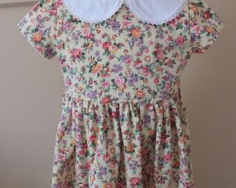 Girl's 1950's Calico Dress Sizes 2-10