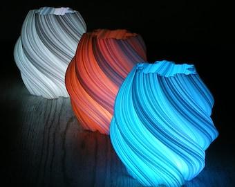 LED Luminary Set of 3 - Fractal Art Sculpture 3D Printed Lamp