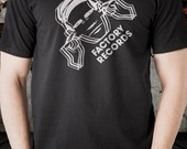 Factory Records t shirt short sleeve  Black tee t-shirt