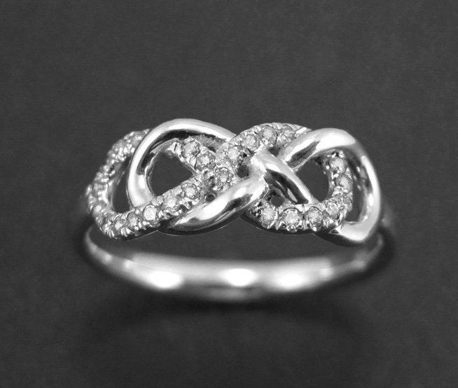 Engagement Rings Knot: Double Knot Diamond Engagement Ring Diamond Knot Infinity