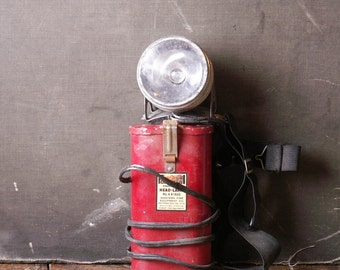 Vintage Forester Head-Lamp, Red Flashlight, Personal Portable Camp Head Lamp