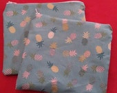 Pineapple zipper pouch pencil case cosmetic bag